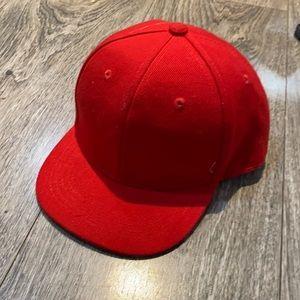 Solid Red Toddler Kids SnapBack Baseball Cap/Hat